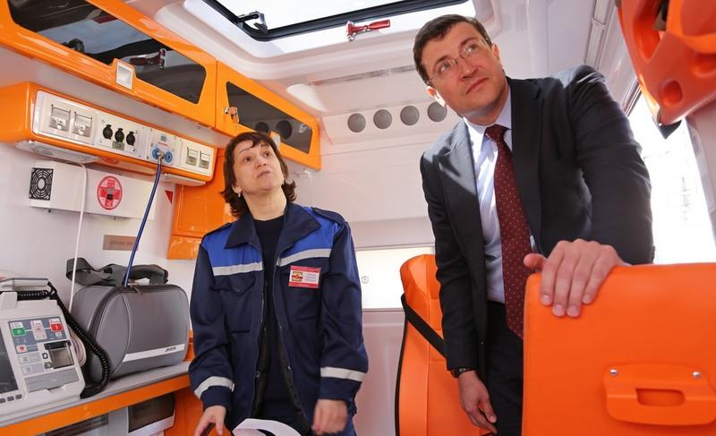 Глеб Никитин вручил Нижегородскому центру медицины катастроф ключи от29 новых реанимобилей