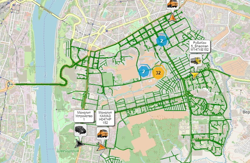 ВСоветском районе запущена онлайн-карта работы снегоуборочной техники